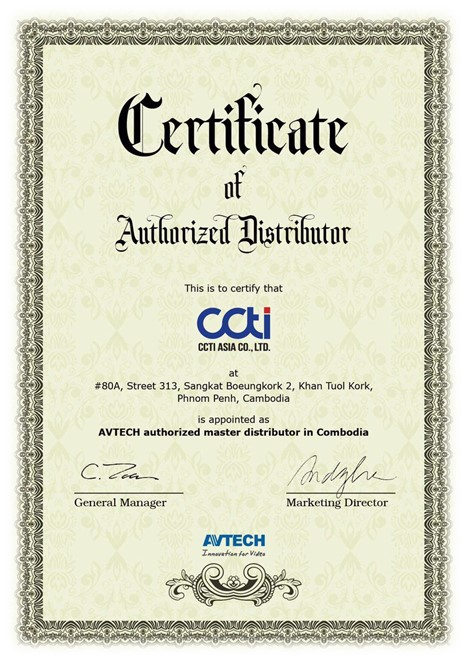 AVTECH Authorized Distributor Cambodia – CCTI ASIA